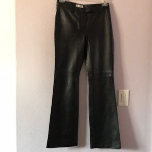 Black Hugo Buscati Collection leather pants